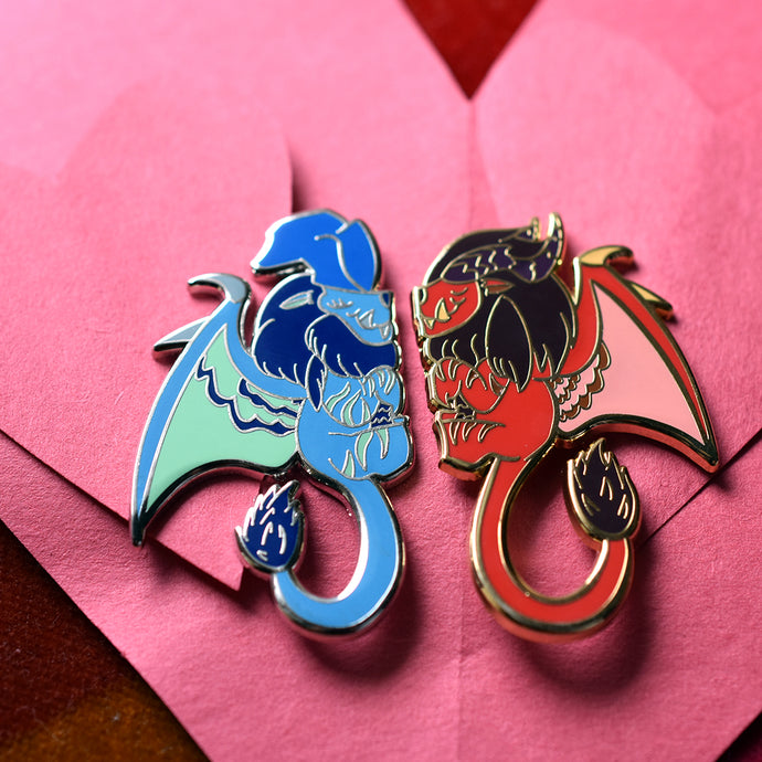 Monstie Lovely Lunastra and Teostra Hard Enamel Pin Limited Edition