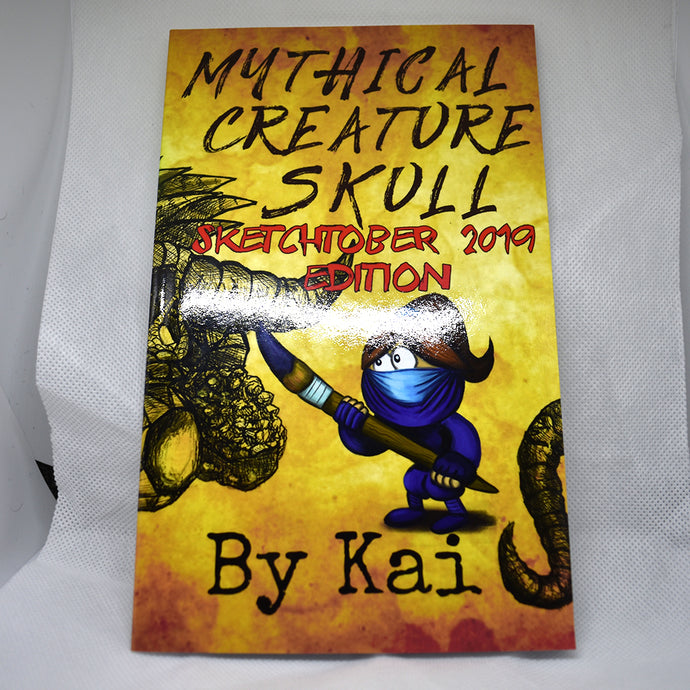 Mythical Creature Skull Sketchtober 2019 Edition Book