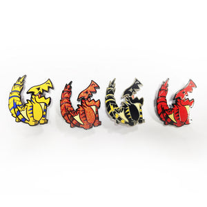 Monster Hunter Tigrex Interactive Enamel Pin Limited Edition