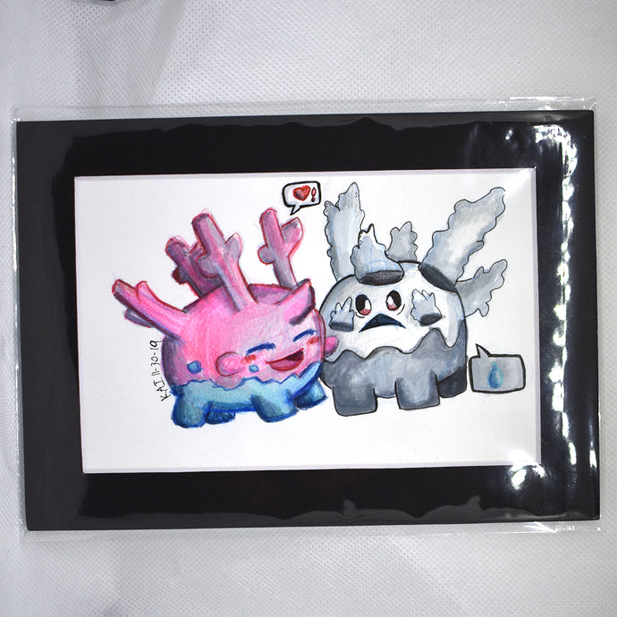 Corsola and Galarian Corsola Traditional Art