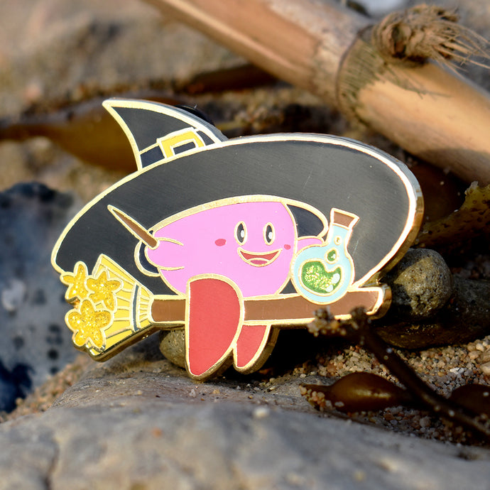 Witch Kirby Enamel Pin Limited Edition