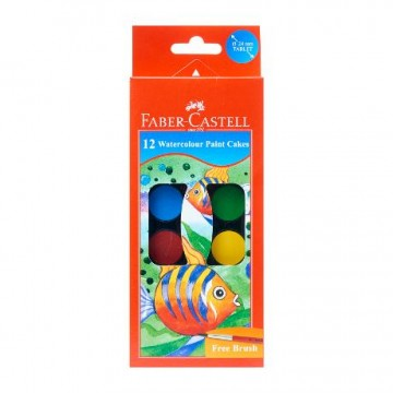 Faber Castell Water Colour Cake 12