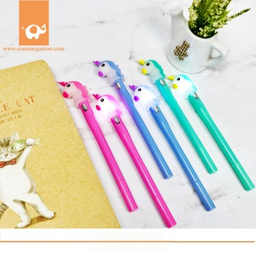 Fancy Gel Pen Uniorn Lampu Nyala