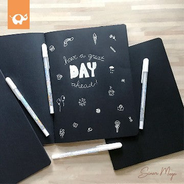Black Paper Plain Notebook B5