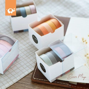 Masking Tape Set 5Pcs Inspired by Nature