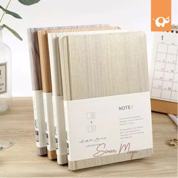 Wood Design Hardcover Mixed Notebook B6 / Buku Catatan Lucu Unik Murah