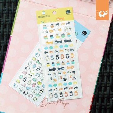Kawaii Animal Friend Diary Deco Stickers