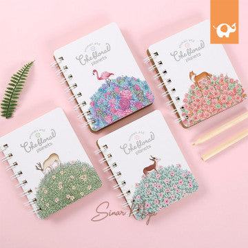 The Floral Planets Spiral Ruled Notebook Mini