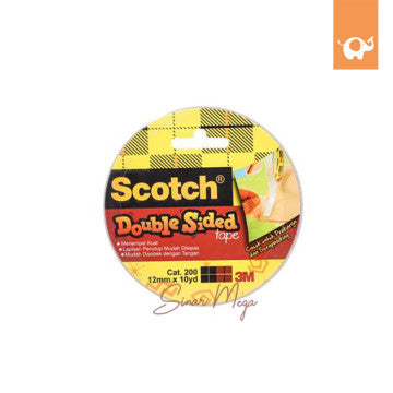 3M Scotch Double Sided Tape 12mmx10y