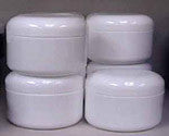 2 oz White Plastic Jar w/Cap