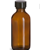 2 oz/60 ml Amber Bottle with Cap