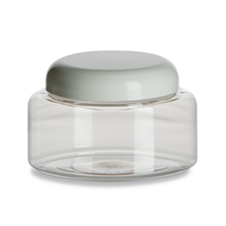 Clear Jar with White Lid