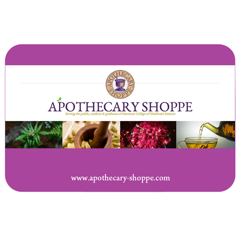 Apothecary Shoppe Gift Card #aromatherapy #essential oils #organic