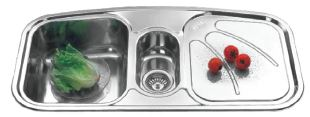 SUS304 Bowl with Drainer Sink