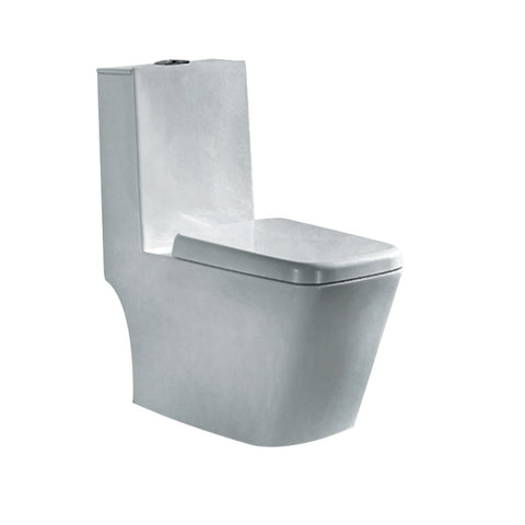 Washdown WC Complete Set (P-180mm) - White (4809776758829)