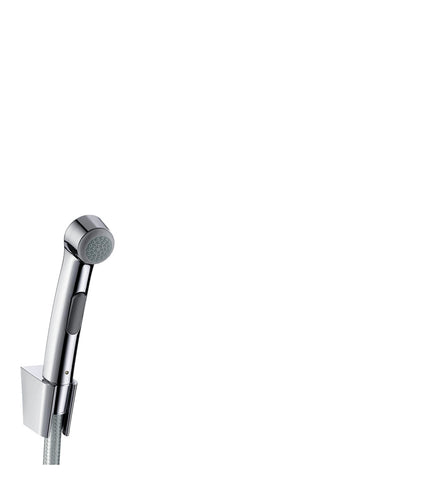 Bidet 1 Jet Hand Shower/ Porter's Shower Holder Set, w Pressure Shower Hose 1.25m, DN15, Chrome