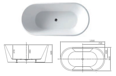 build in bathtub