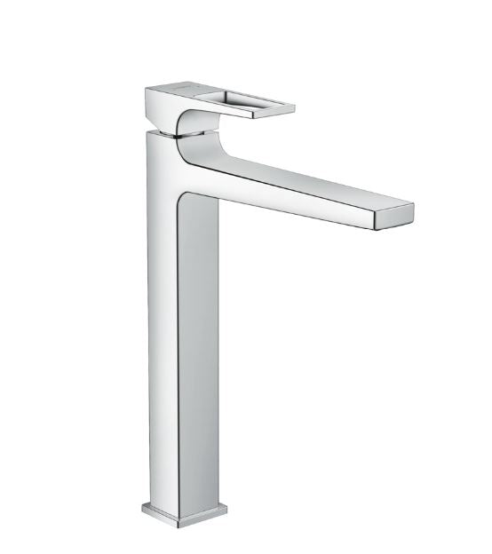 Metropol Single Lever Basin Mixer 260 with Loop Handle for Washbowls with Push-Open Waste Set SGP (5265657790626)