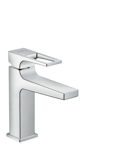 Metropol Single Lever Basin Mixer 110 with Loop Handle and Push-Open Waste Set SGP (5265657430178)