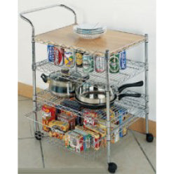 Moveable Multi Purpose Storage Rack With Tray c/w 4pcs x roller