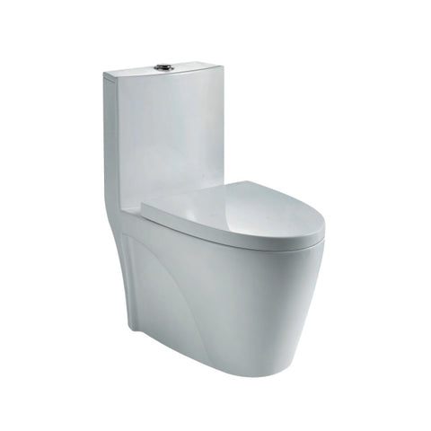 Washdown WC Complete Set (S-250mm) - White (4809771384877)