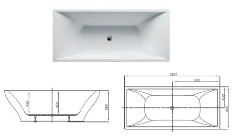 replace built-in bathtub