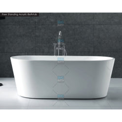 Long Bath with Panel - White
