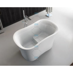 Free Standing Long Bath C/W Pop Up Waste
