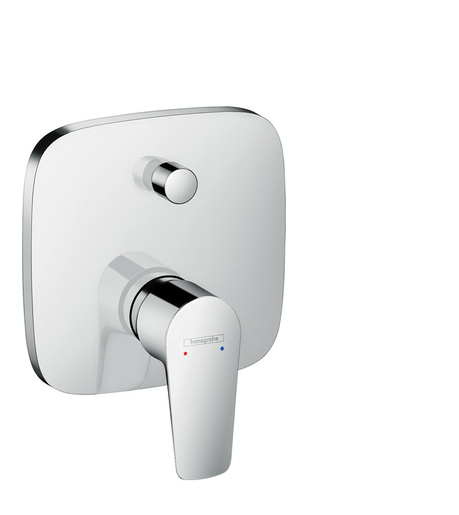 Talis E Single Lever Bath Mixer for Concealed Installation, DN15, Chrome (5265659658402)