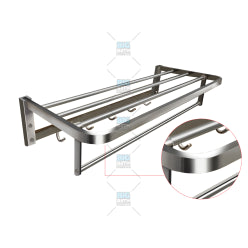 SUS304 Towel Rack with Hooks (5021011869741)