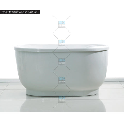 Free Standing Full Panel Long Bath c/w Waste