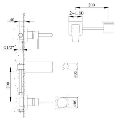 Wall Mixer With Spout (5421701333154)
