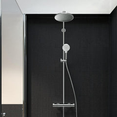 Crometta S Showerpipe 240 1 Jet Eco with Single Lever Bath Thermostat