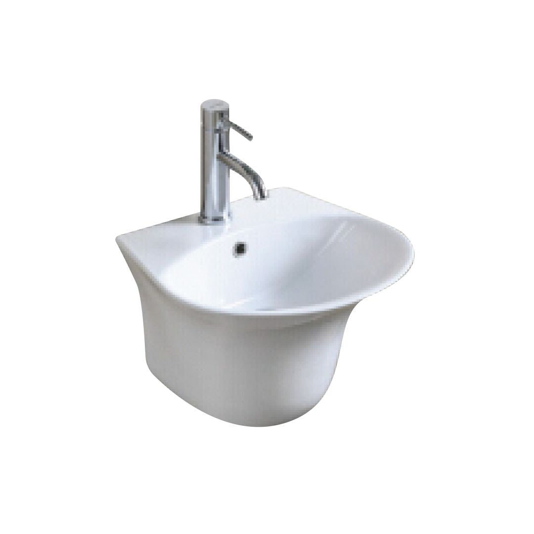 Wall Hung Wash Basin c/w Fixing Bolts - White (5760344948898)