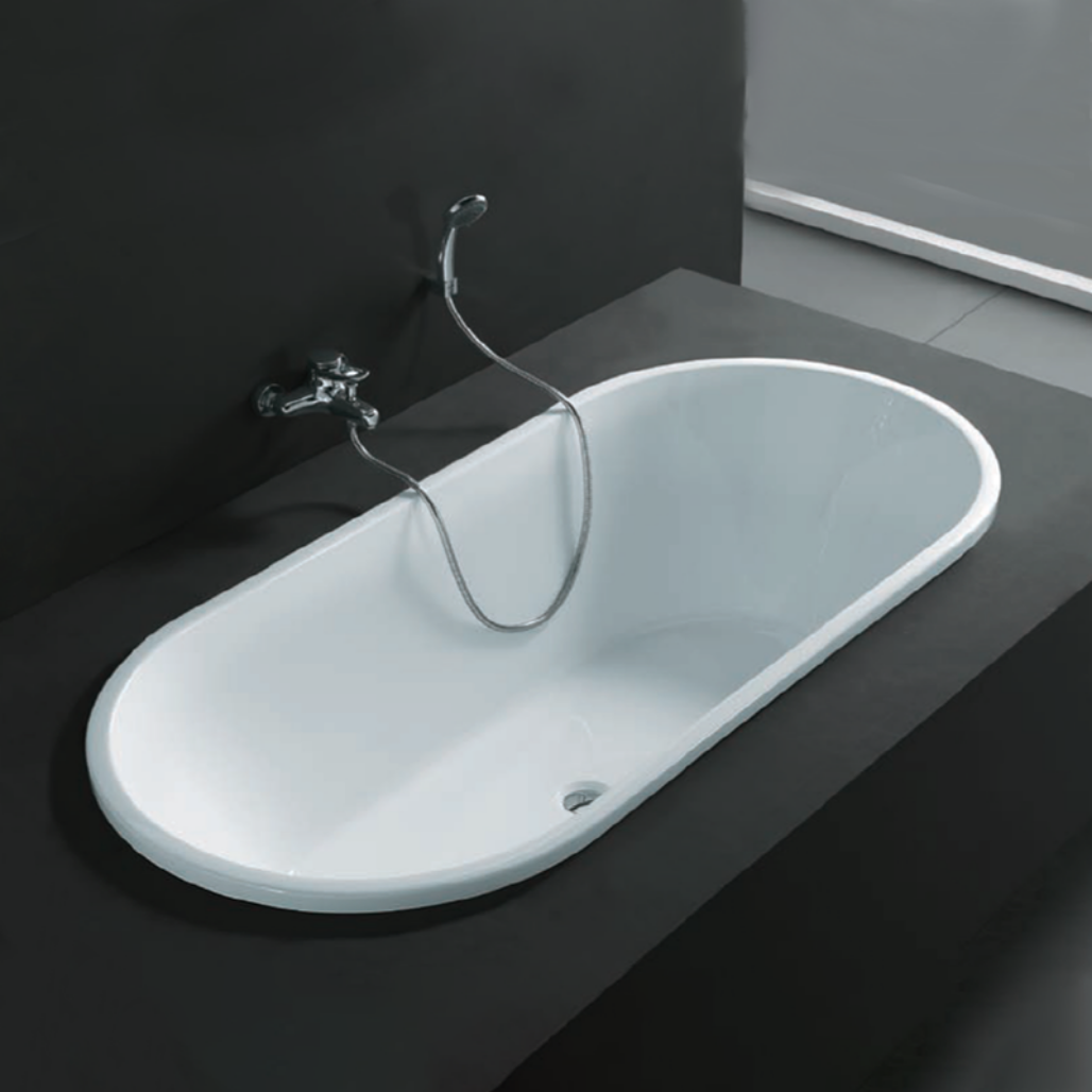 Built-In Long Bath - White
