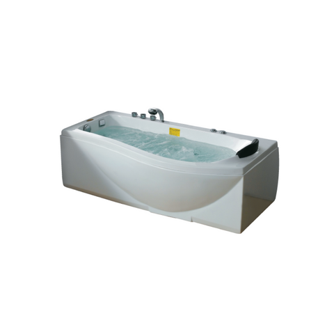 Massage Bathtub White Color - Left