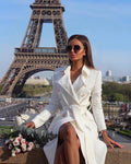 'Rosas' White Trench Coat