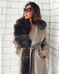 'Riga' Fur Cashmere Coat