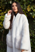 'Yolana' Soft Fur Coat