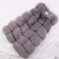faux fur eco vegan vest gillet grey pelliccia outwear coat winter mantel maison valentina