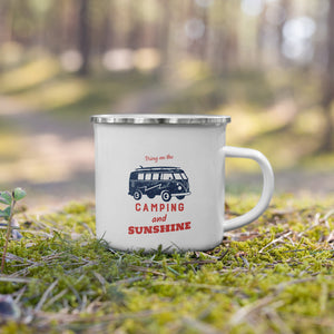 Camping and Sunshine - Enamel Mug