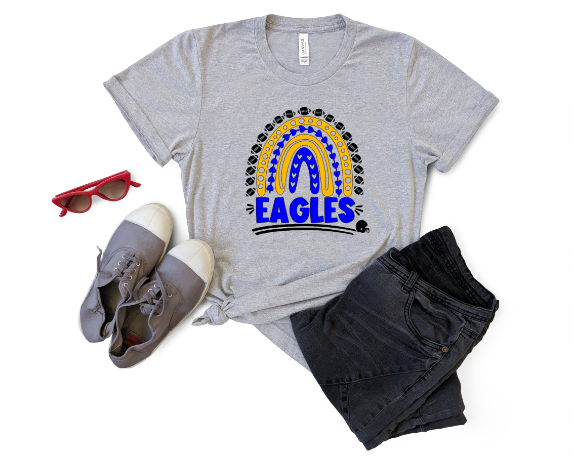 Women's Go Eagles Rainbow Tee