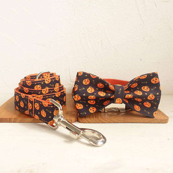 Pet supplies set Halloween style set with bow set