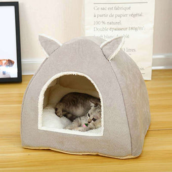 Cat House Closed Folding Cat Villa Teddy Pet Supplies