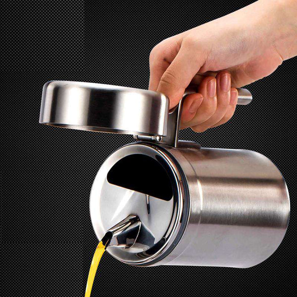 stainless steel pot with cover oil leak proof