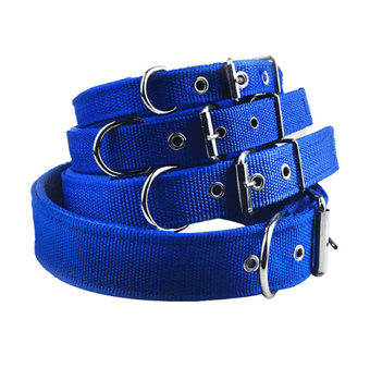 Nylon foam leather pet collar collar 3 color dog collar sponge pet supplies traction