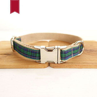 Metal Collar Plaid Dog Collar Pet Supplies