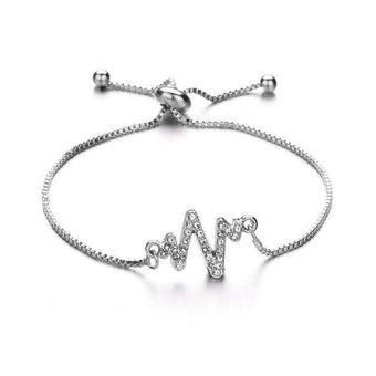 Brand Bracelets Heart Hollow Out Bracelet