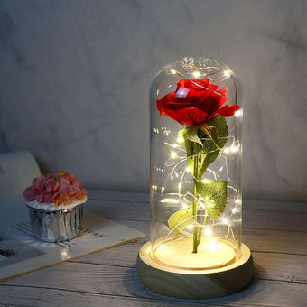 LED Rose in Glass Dome Eternal Rose
