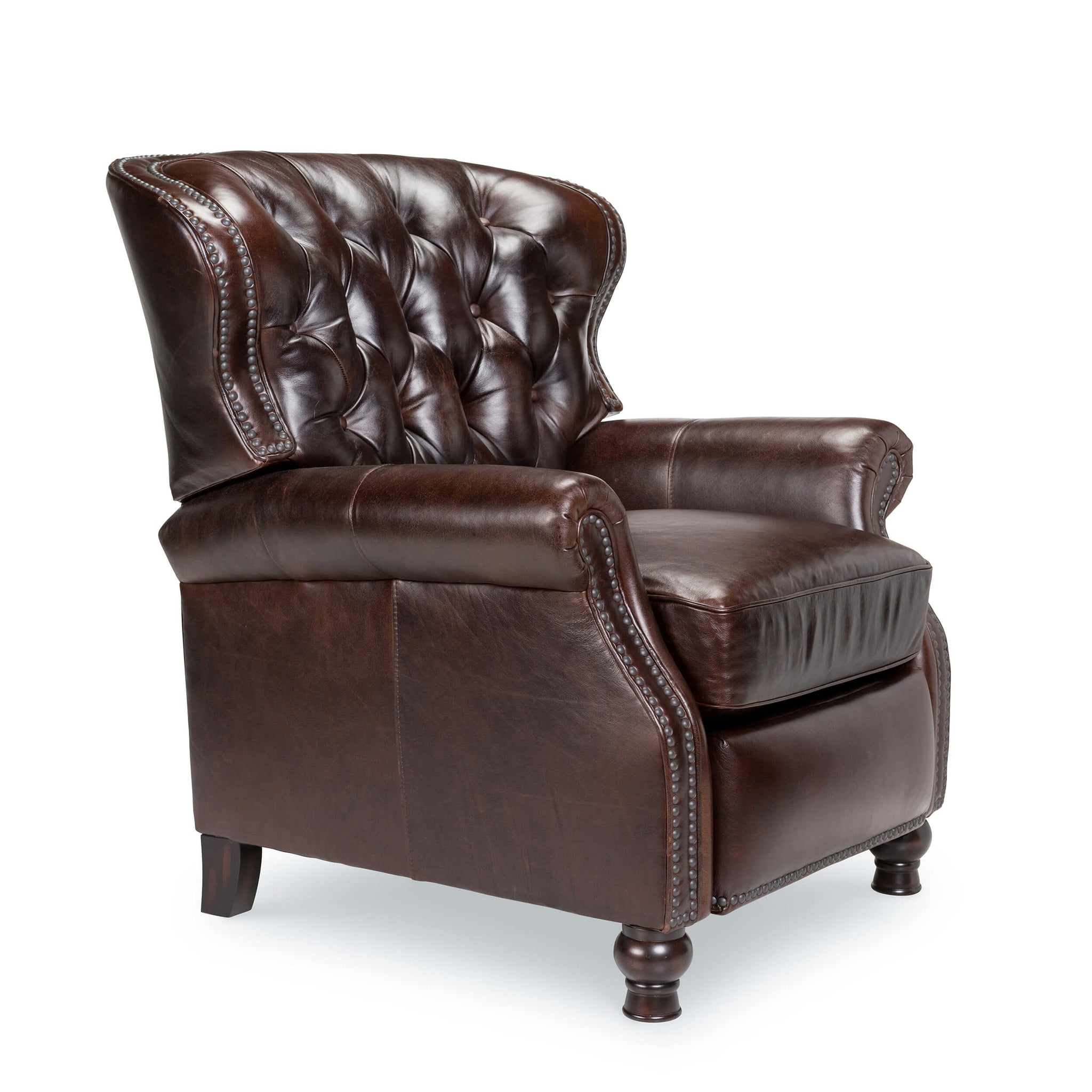 Opulence Home Cambridge Recliner Leather Shalimar Cocoa 2568